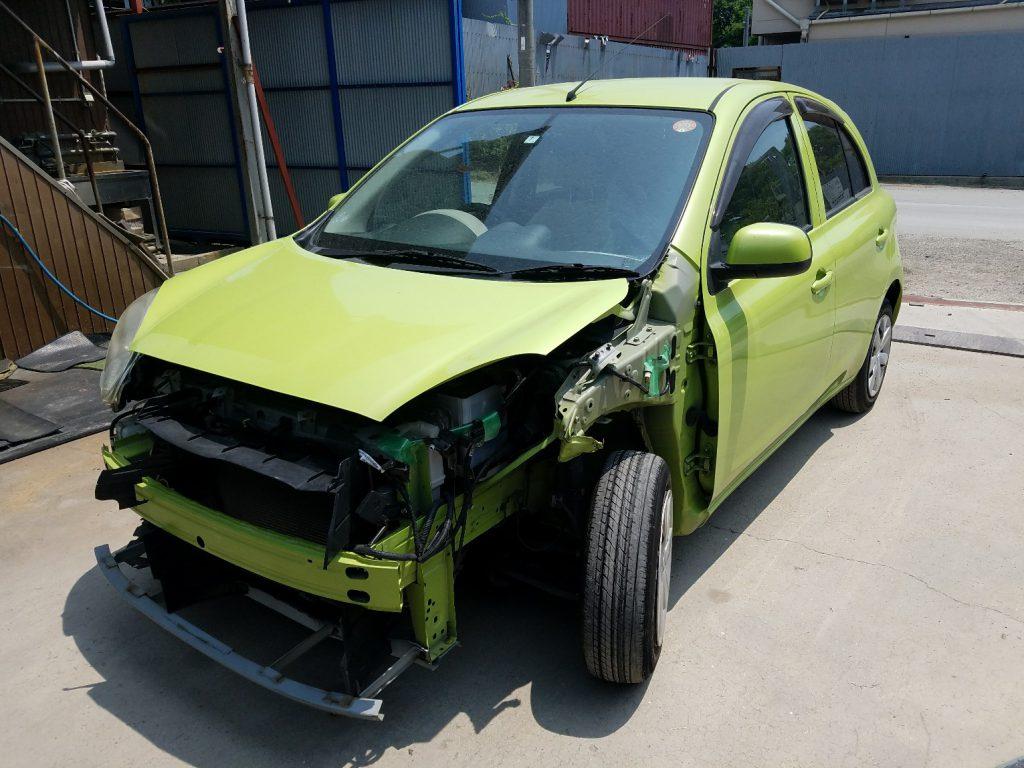神戸事故車買取 日産 マーチ K13