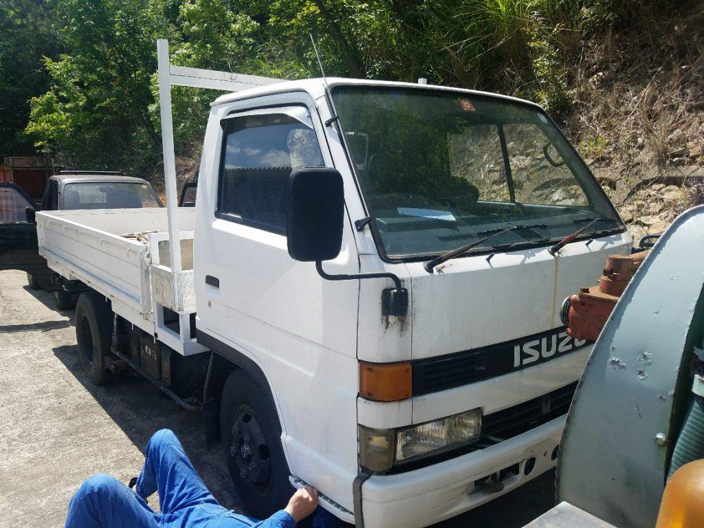 神戸トラック買取 イスズエルフ 平ボディ車 NKR58E