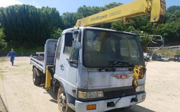 神戸トラック買取 日野4トンクレーン車 FD3HGA