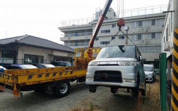 神戸市兵庫区の放置車輌撤去処分